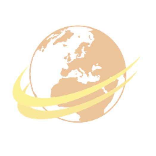 Tracteur bleu avec presse à balle ronde